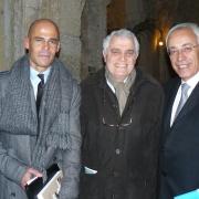 Les historiens Michaël et Carol Iancu aux côtés de Son Excellence Yossi Gal, ambassadeur d'Israël en France en 2012
