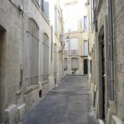 Rue Castel-Moton dans le Quartier Juif médiéval de Montpellier