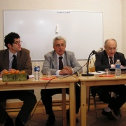 Les universitaires Antoine Coppolani, Jules Maurin et Willy Bok en 2008