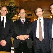 L'historien Michaël Iancu, le philosophe Fabrice Midal, l'écrivain et philosophe des religions Michaël de Saint-Chéron et le journaliste et écrivain Jean-Pierre Allali en 2008