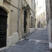 Rue du Puits des Esquilles dans le Quartier Juif médiéval de Montpellier