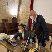 L'historien Laurent Joly, directeur de recherche au CNRS et Charles Ebguy, président délégué de l'Institut Maïmonide en 2020